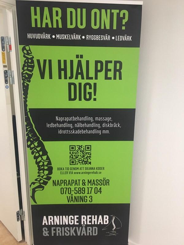 685b461d5e6 Arninge rehab & friskvård, Täby, ICA-huset Arninge, 3 trappor – Bokadirekt